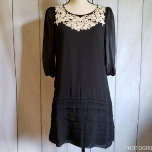 Lucy Paris Embroidered Babydoll Dress